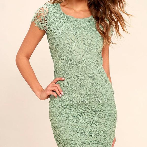 8a4a5939b4 Lulu s Hidden Talent Backless Green Lace Dress